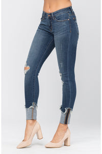 Cuffed in Style Destroyed Judy Blue Jeans