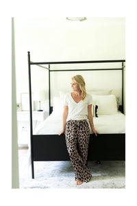 Leopard Pajama Bottoms - Luxe Personalization Boutique