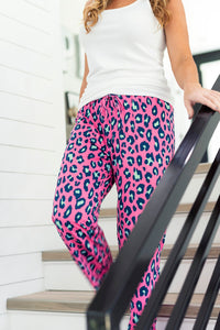 Hot Pink Leopard Pajama / Lounge Pants - Luxe Personalization Boutique