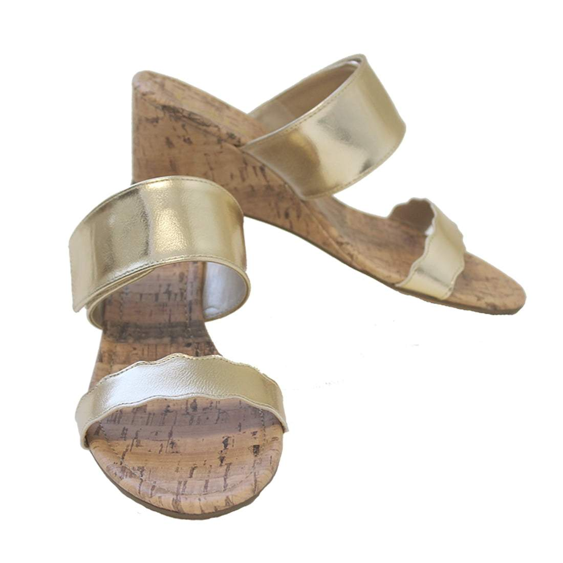 Gold Wedge Sandal