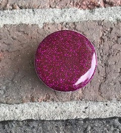Magenta Glitter Pop Socket | Glitter Phone Accessories| Custom Phone Grip | Monogram Phone Grip| Phone Stands| Gift For Her| Phone Grip - Luxe Personalization Boutique
