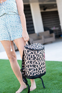 Wild Side Leopard Cooler Backpack