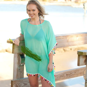 Mint Pom-Tastic Cover up