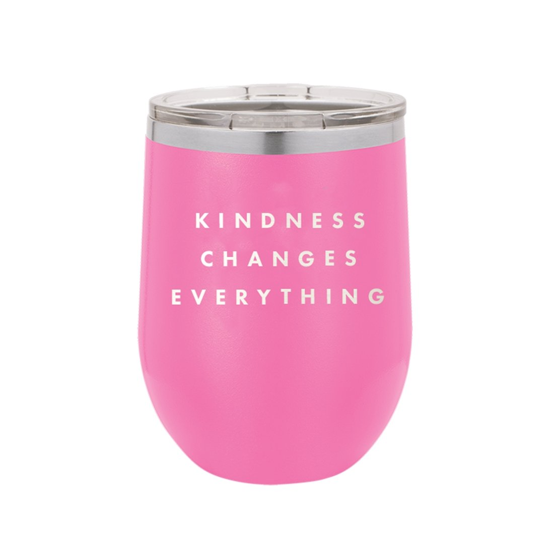 Kindness Changes Everything Pink 12oz Insulated Tumbler