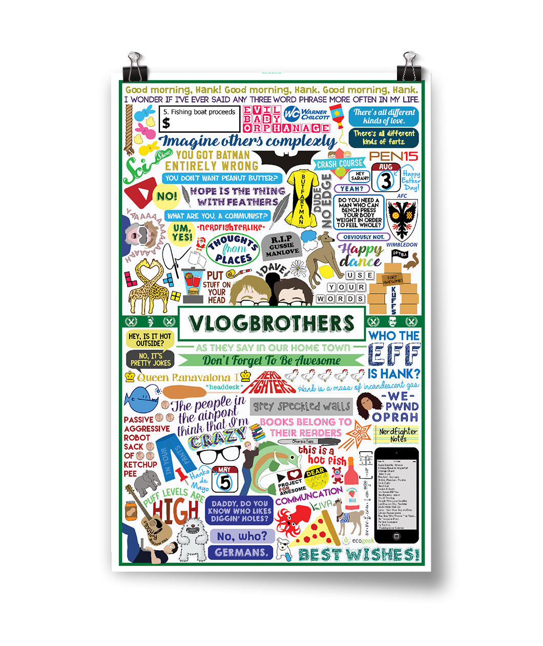 10 Years of Vlogbrothers Poster
