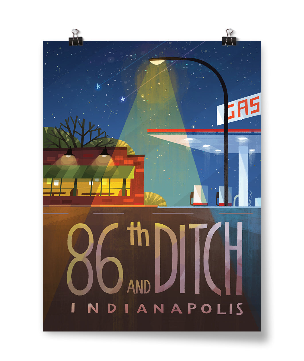 86th And Ditch Intersection Poster