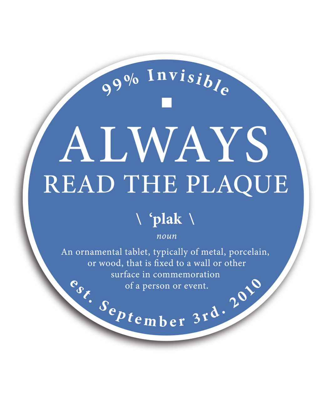 Always Read the Plaque Decal (4