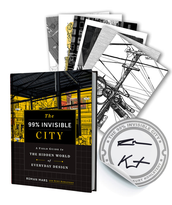 U.S. Only : The 99% Invisible City + Signed Bookplate + Cards