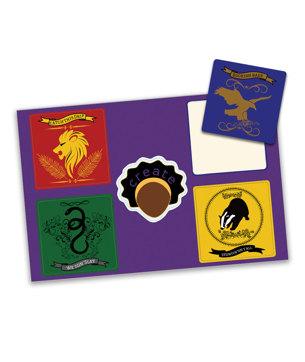 Hogwarts House Sticker Sheet
