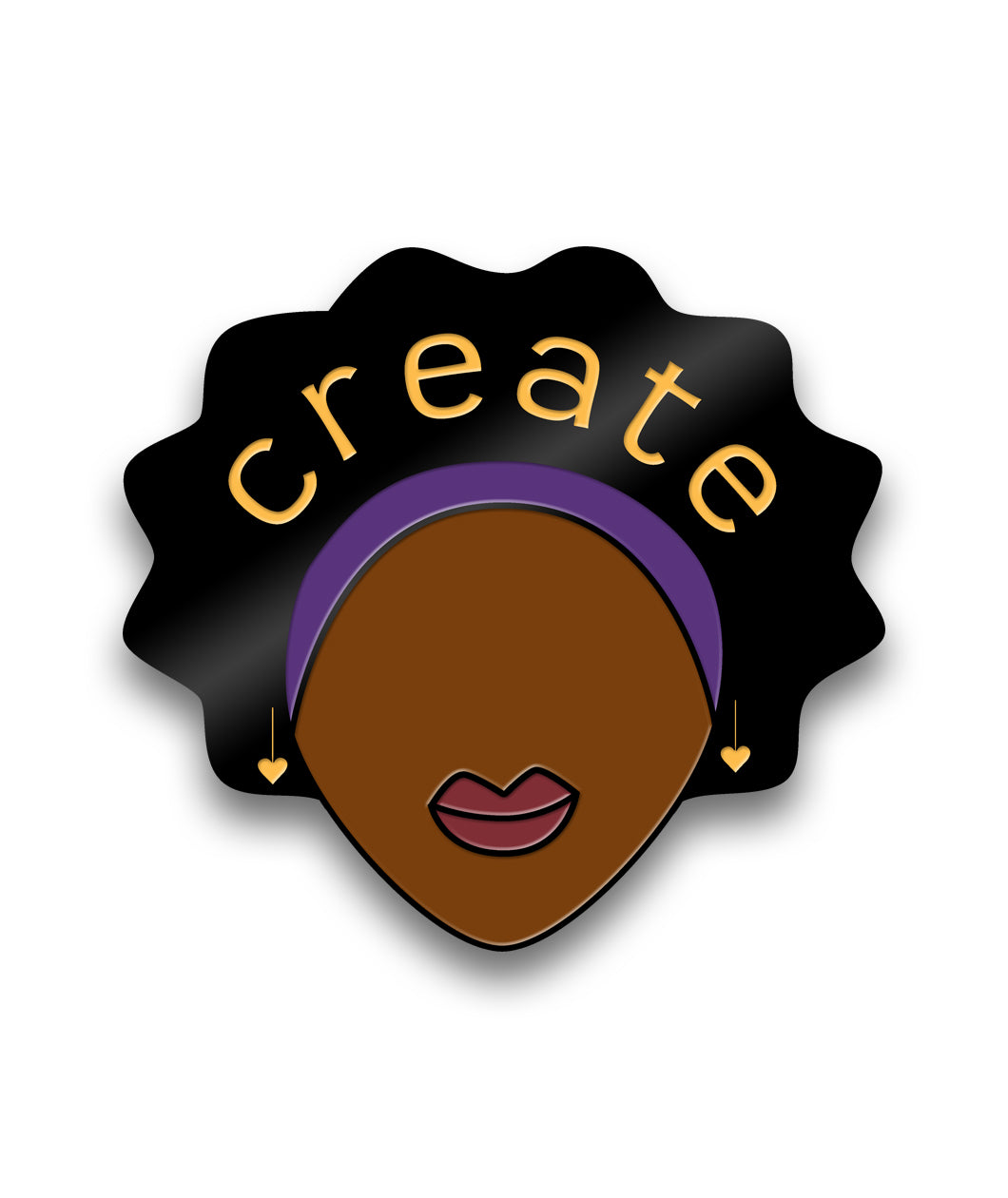 Black Girls Create Enamel Pin