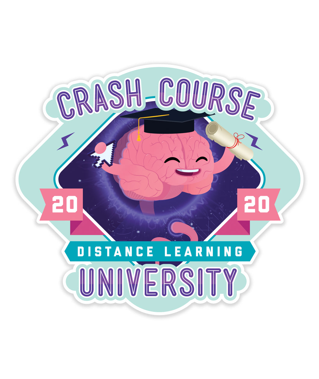 CrashCourse Distance Learning University Decal