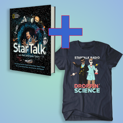 StarTalk Book + Droppin' Science Shirt Bundle