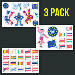 Europe Sticker Set