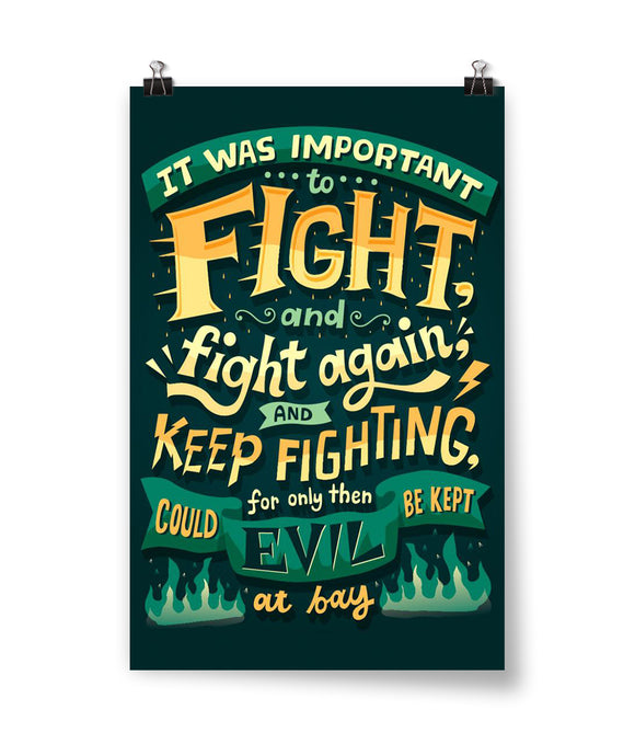 Fight and Fight Again Poster - Staff
