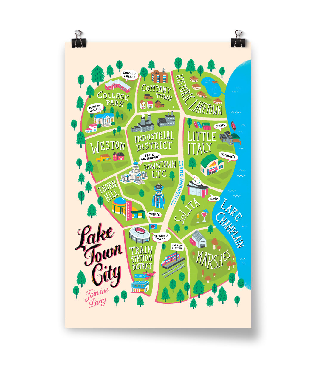 Lake Town City Map