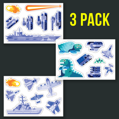 Kaiju Fight Sticker Set