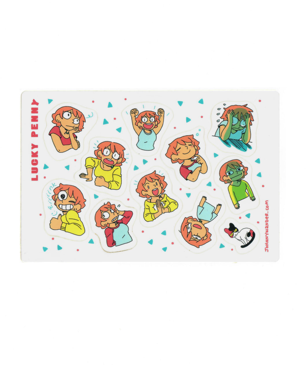 Lucky Penny Sticker Sheet