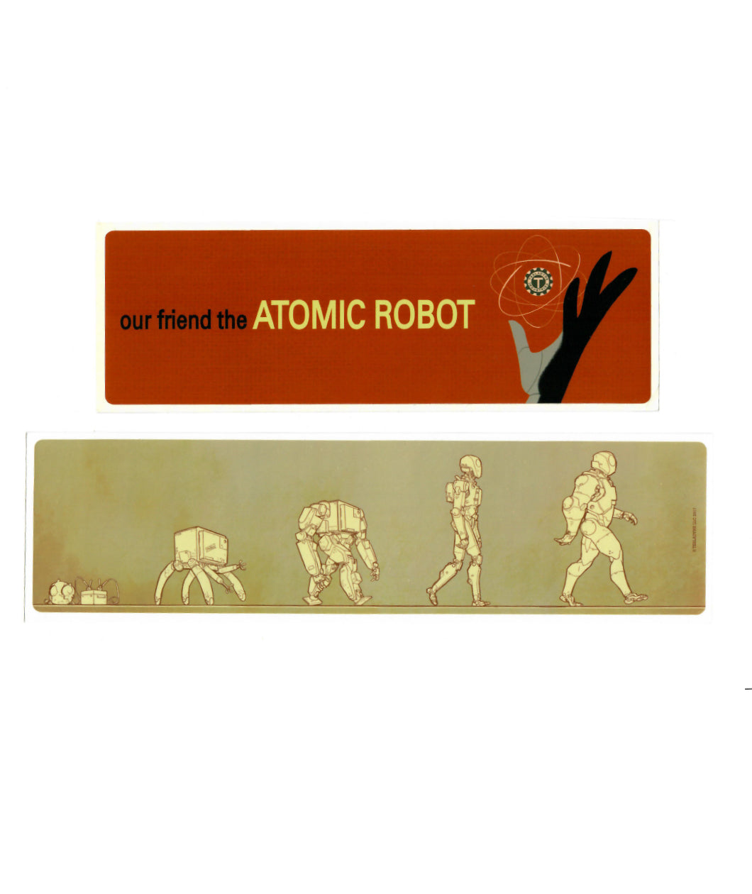 Atomic Robo Bumper Sticker Set