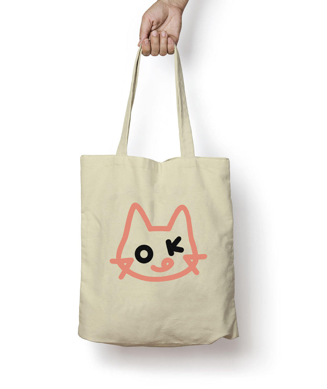 OK CAT tote bag