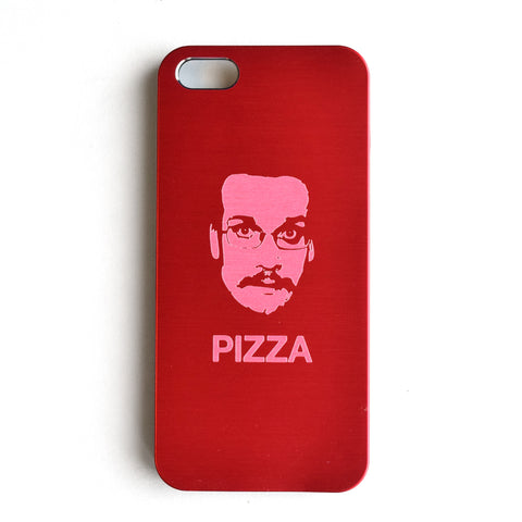 Pizza John Etched Metal iPhone 5 Case