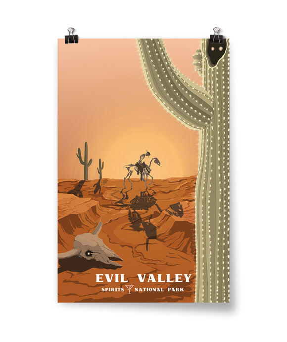 Evil Valley Spirits National Park Poster