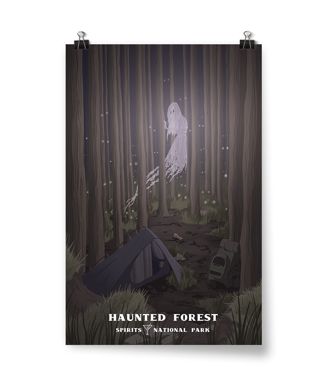 Haunted Forest Spirits National Park Poster