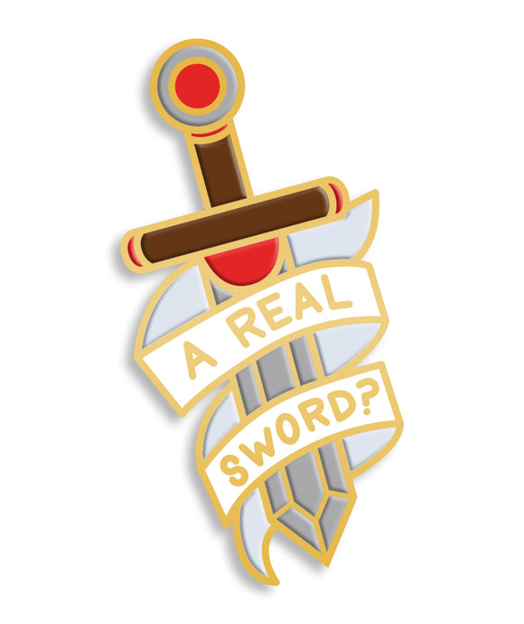 Pin Of The Month: A Real Sword? (April)