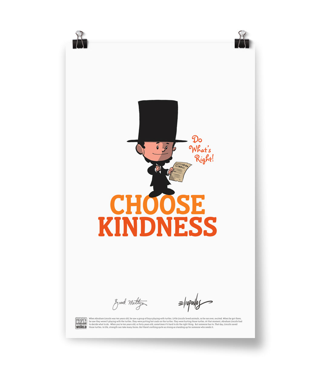 "Abraham Lincoln ""Choose Kindness"" Poster"