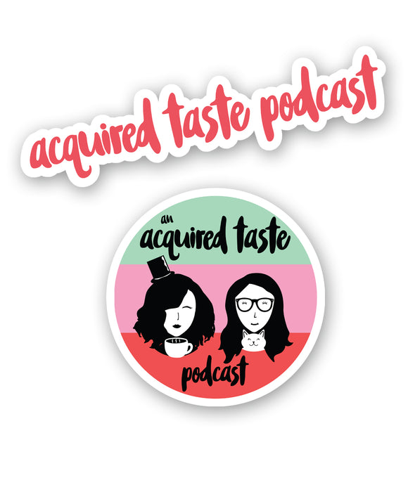 An Acquired Taste Podcast Decal Pack