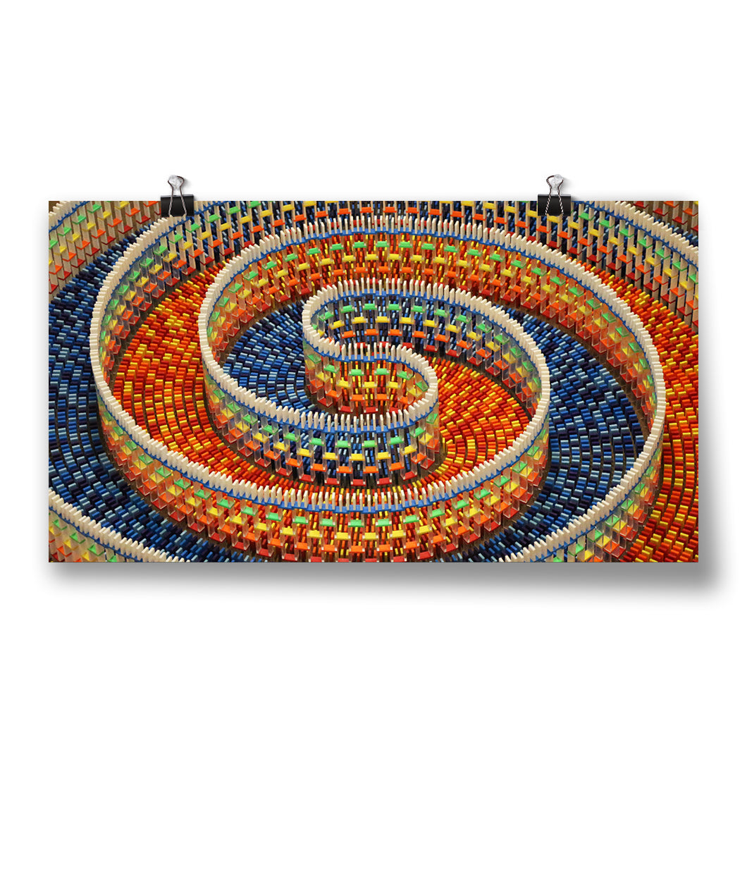 Amazing Triple Spiral Poster