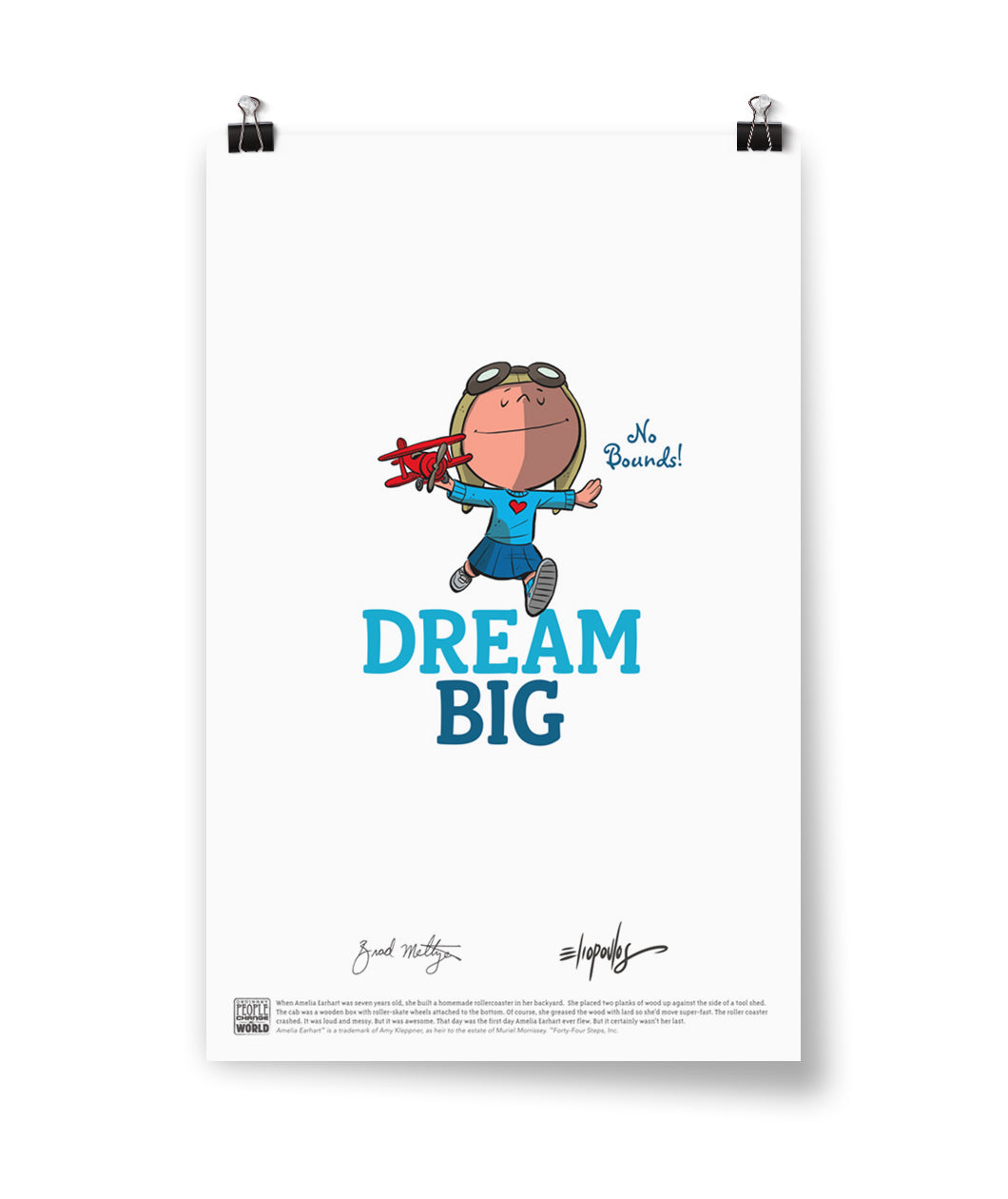 "Amelia Earhart ""Dream Big"" Poster"
