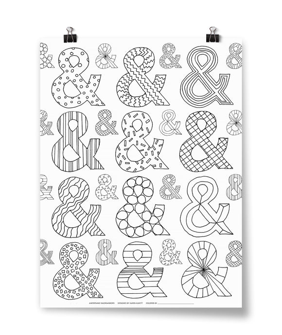 Ampersand Coloring Poster