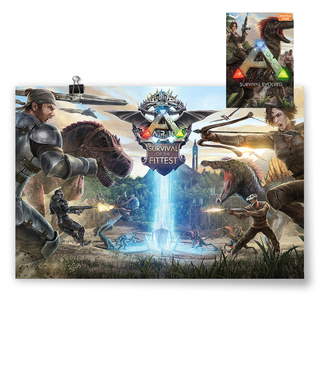 ARK: Survival of the Fittest Poster + Game Bundle