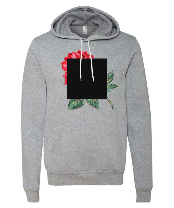 Agnes Martin Inspired Rose Art Hoodie *Limited Edition Grey*
