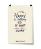 Being Happy Watercolor Poster