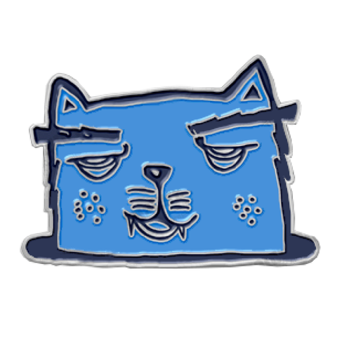 Kedicizdim Blue Cat Lapel Pin