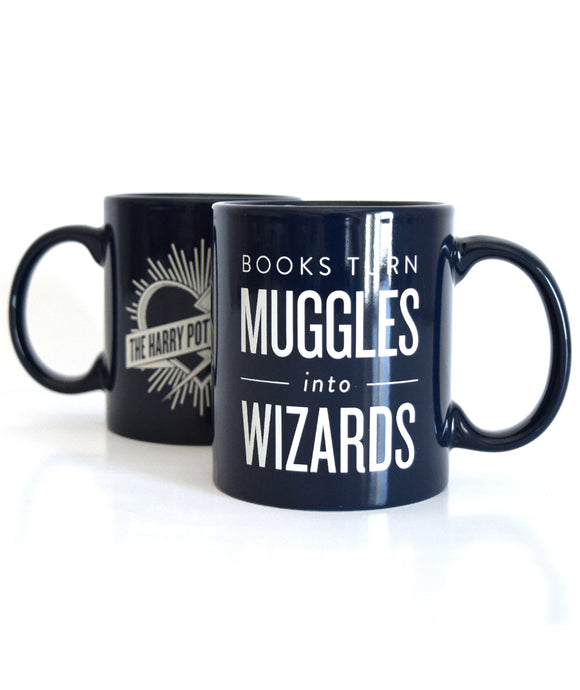 Books Turn Muggles Into Wizards Mug