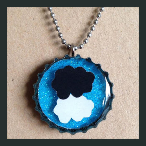 TFiOS Clouds Bottlecap Necklace
