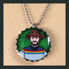 Wil Wheaton Bottlecap Necklace