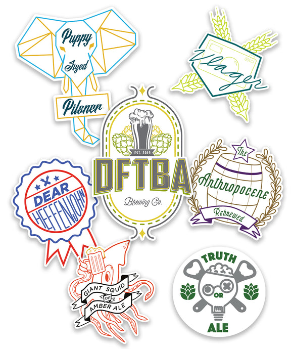 DFTBA Brewing Co. Sticker Set