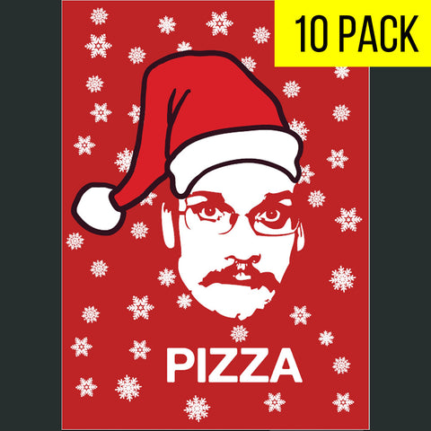 Nerdfighter Holiday Cards- Pizza John