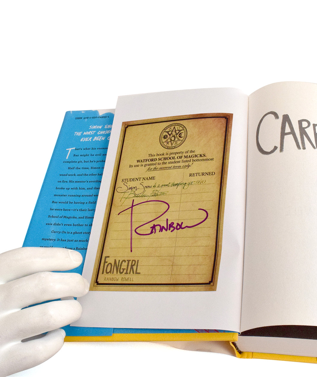 SIGNED Carry On book + Because They Match Shirt Bundle
