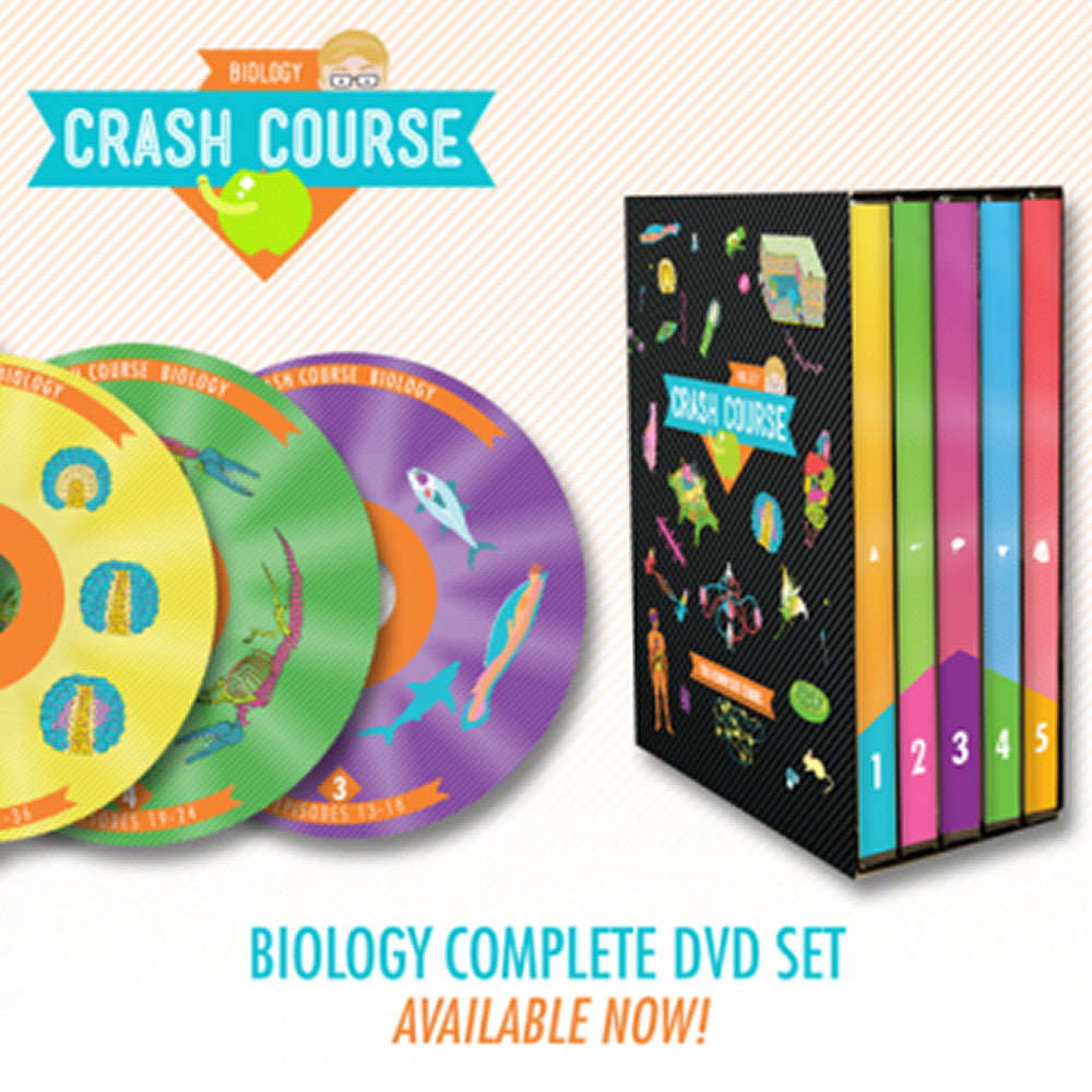 CrashCourse Biology: The Complete Series DVD Set