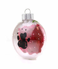 Chili Pepper Paw Plastic Oval Ball Ornament