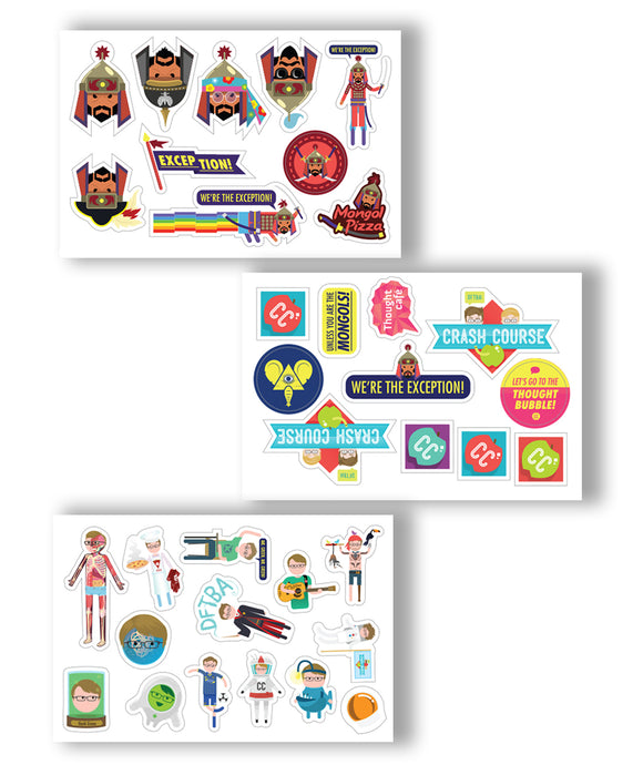 CrashCourse Sticker Set