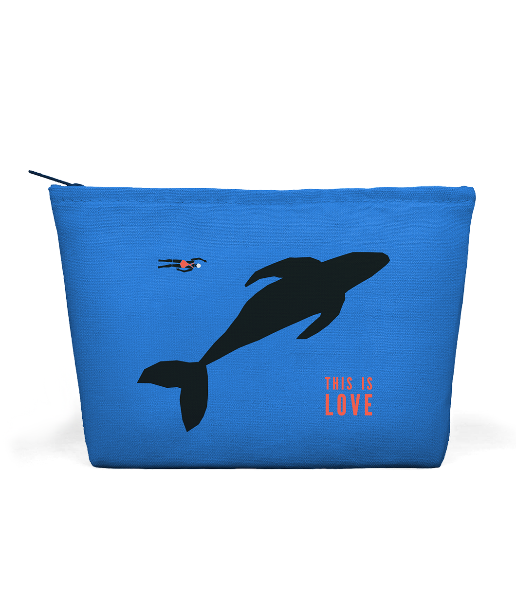 This is Love Whale Zip Pouch