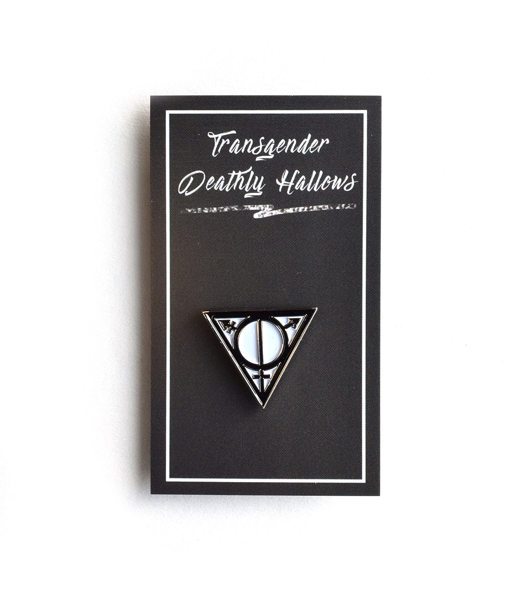 Transgender Deathly Hallows Lapel Pin