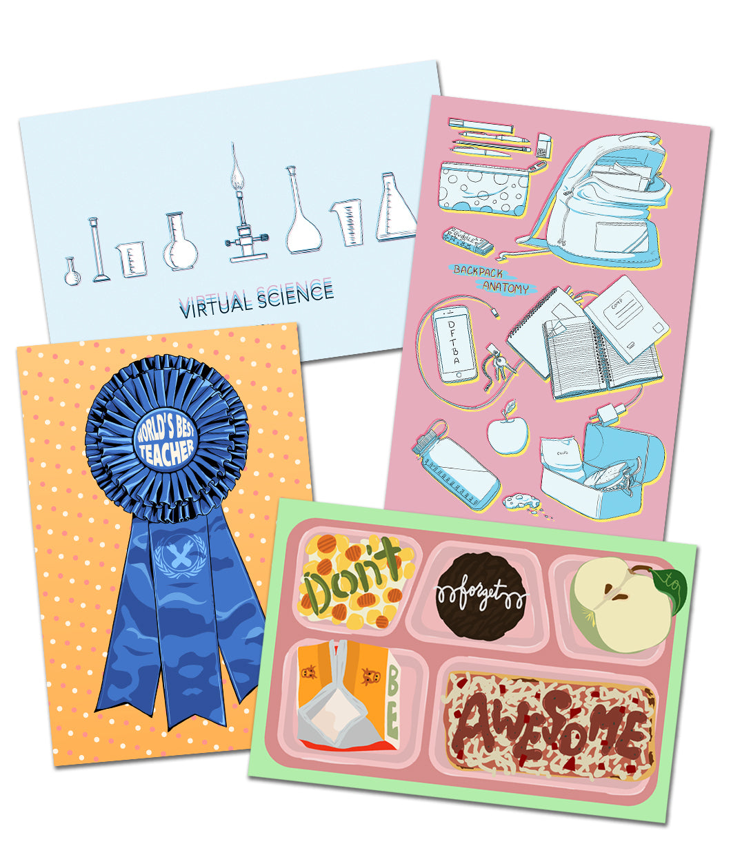 DFTBA Back To School Postcard Set