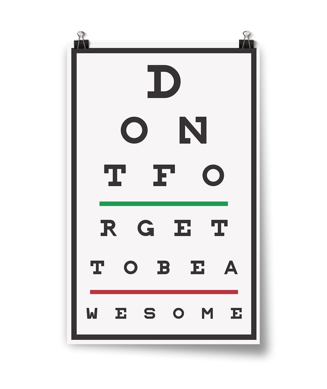 DFTBA Eye Test Poster