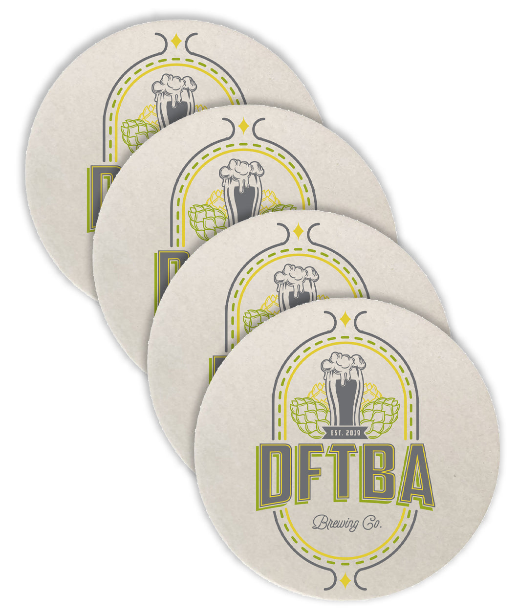 DFTBA Brewing Co. Four Coaster Set